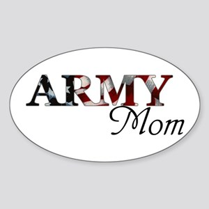 Army Mom (Flag) Oval Sticker